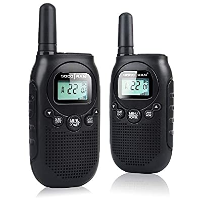 Adults Walkie Talkies Rechargeable Two-Way Radios for Adults Portable Mini 2 Way Radios with Rechargeable Battery Long Range 5 Miles 2Pack 0.5W for Outdoor Activities Camping