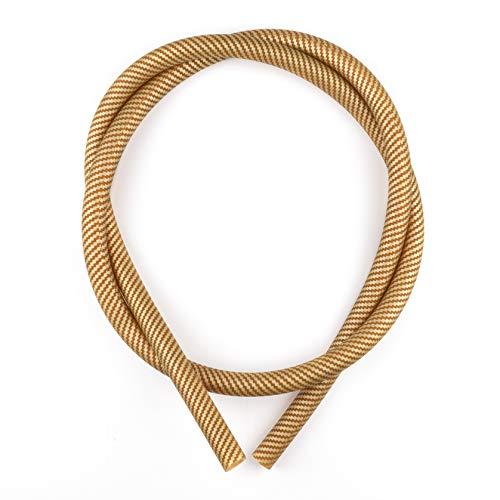 K King'z® Shisha Schlauch Gold in Carbon matt | Silikonschlauch Shisha | kompatibel mit jedem Shisha Mundstück und Adapter | Wasserpfeife Zubehör inclusive eBook