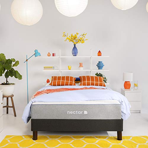 Nectar Twin Mattress + 2 Pillows Included - Gel Memory Foam Mattress - CertiPUR-US Certified Foams - 180 Night Home...