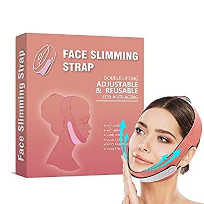 Face Slimming Strap, Double Chin Reducer, Chin Slimmer For Both Men And Women, MichPong V Line Shaped Lifting Slimming Belt, Double Chin Lifting Belt - Orange