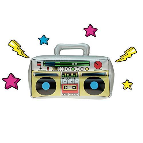 wuselwelt (583094) Aufblasbarer Ghettoblaster 42 x 28 cm, Boombox, Hip Hop Radio Walkman 80er 90er Party, geeignet für jegliche Feiern, Geburtstag, Fete, Hochzeit, Motto-Party etc