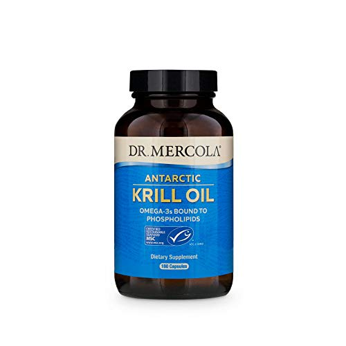 Dr. Mercola, Antarctic Krill Oil, 90 Servings (180 Capsules), Support a Healthy Heart, Overall Joint Comfort and Immune Function, MSC Certified, Non GMO, Soy-Free, Gluten Free