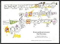 ポスター ラグナル キアルタンソン The Visitors February 1 ? March 6 2013年 額装品 アルミ製ハイグレードフレーム(ブラック)