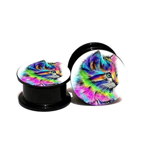 HLWJ Hundido Pendientes de joyería de acrílico 2pcs Tapones for los oídos y los túneles de medidores Expander Hombres y de Mujeres oído Camilla Cuerpo for Las Mujeres (Color : ASE1222, Size : 6mm)