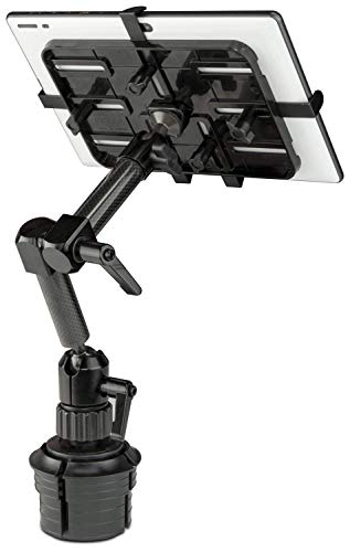 Mount-It! Premium Cup Holder Tablet Mount for Cars - Tablet ELD Mount - Heavy Duty Carbon Fiber Tablet Mount for iPad 7, Galaxy Tab, & Fire Tablets (MI-7321)