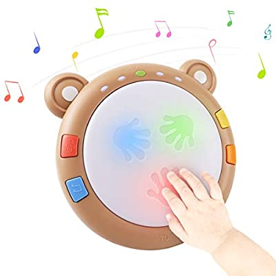 tumama Baby Musical Electronic Toys,Early Educational Babies Light up Drum Baby Musical Instruments Sensory Baby Toy Musical Toys Gift for Infants,Toddlers,Boys,Girls, 18 Months&Up from tumama