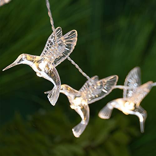 GloBrite 10 LED Hummingbird Solar Garden Fairy String Lights (Warm White)
