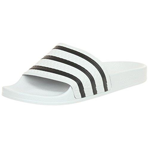 adidas Originals Adilette, Zapatos de Playa y Piscina Hombre, Blanco (White/Black/White), 43 EU