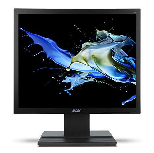 """Acer V196LBbmd Monitor IPS da 19"""", Risoluzione 1280x1024, Frequenza 60 Hz, Formato 5:4, Contrasto 100M:1, Luminosità 250 cd/m², Tempo di Risposta 5 ms, VGA, DVI (w/HDCP), Speaker Integrati, Nero"""