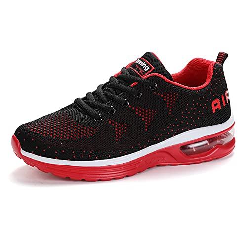 Entrenador de Ocio al Aire Libre para Hombre Mujer Transpirable Simple Rojo Zapatos Deportivos 36 EU