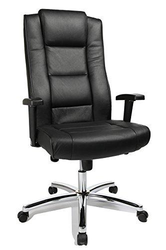 Topstar Chairman 10 Chefsessel (höhenverstellbare Armlehne, Leder, 64 x 63 x 120 cm) schwarz