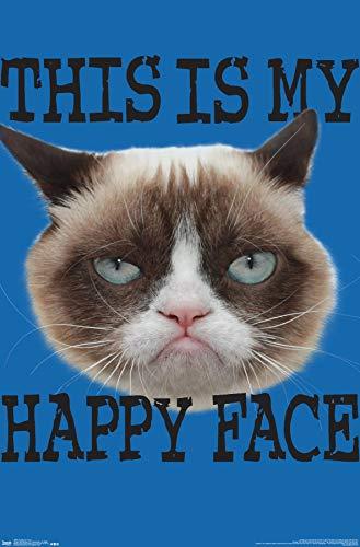 Trends International Grumpy Cat - Face Wall Poster, 22.375' x 34', Unframed Version