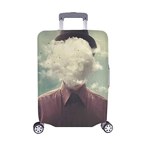 Cool Man Head en The Clouds Surreal Travelers Choice Travel Equipaje con Ruedas giratorias Maleta con Equipaje de 24 Pulgadas