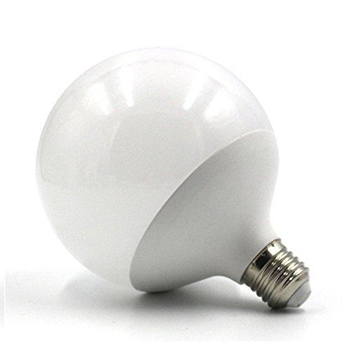 LEDIARY LED Globe E27 Lampe G120 Sockel mit Edison-Schraube, 120 mm tief x 155 mm hoch, kaltes Licht, 6500 K, 220 V.