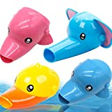 Extender de Grifo Extender Grifo Niños BETOY 4 piezas Grifo Extender Sink Handle Extender Diseño Animal Accesorios de Grifería para Niños