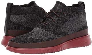 [コールハーン] メンズ 男性用 シューズ 靴 スニーカー 運動靴 2.Zerogrand Stitchlite Chukka Water Resistant - Black/Magnet Knit/Red Ochre [並行輸入品]
