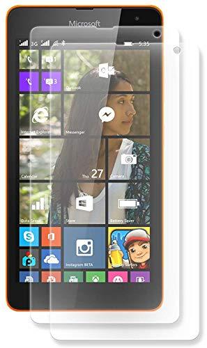 ENERGMiX Displayfolie kompatibel mit Microsoft Lumia 535 Schutz Folie Folien (2 Stück) - Ultra Clear