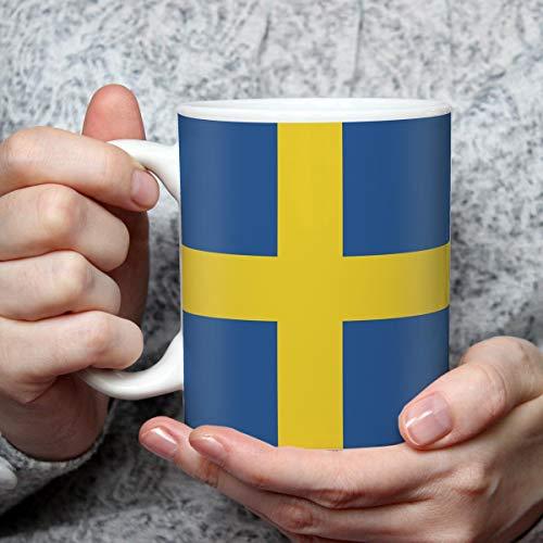 Geschenk Tasse mit Flagge Schweden Länder Flaggen Geburtstagsgeschenk Souvenir Sverige Skandinavien für Reiseliebhaber Frauen Männer