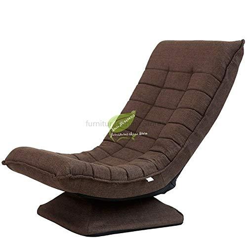 LJQLXJ divano Modern Corner Sofa 360 Degree Rotation Fabric Luxury Small Folding Chairs Single Sofa Bed Living Furniture,Deep Coffee