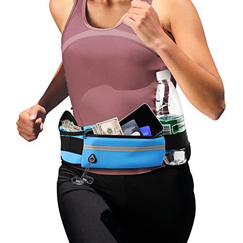 Laufgürtel für Handy Ultraleicht Laufgürtel, Wasserabweisende Sport Hüfttasche Lauftasche Handy Jogging Laufgürtel, Damen Herren Bauchtasche Running Belt für Smartphone bis 6