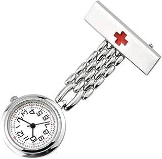 Barir Nurse Pocket Watch Unisex Nurse Watch Health Care Nurse Doctor Watch Nurse Lapel Pin Watch Nurse Pocket Watch Digital (Color : Silver)