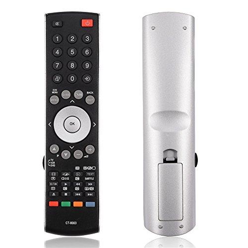 Zerone Mando a Distancia Universal para Toshiba CT-8003, Smart TV Repuesto Mando a Distancia para Toshiba CT-90314 37XV500A 42XV500A 46XV500A Smart TV