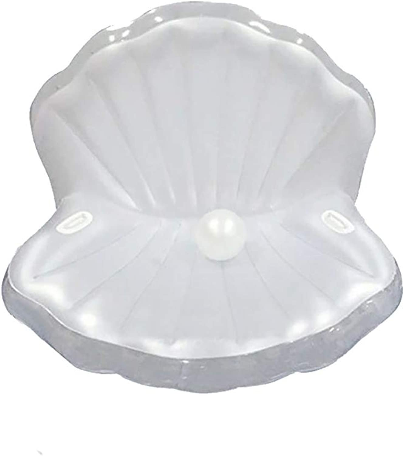 White Shell Floating Row Adult Shell Water Inflatable Cushion Swimming Bed Mermaid Floating Row Inflatable Boat