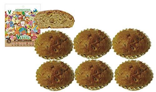 無添加パン Vエイドパンデイリー 黒糖レーズン&焦がしアーモンド 6個 ★宅配便★卵・乳製品不使用のヴィーガンパン。しっとり柔らかな食感 黒糖とレーズンの甘み、ローストアーモンドがアクセント。