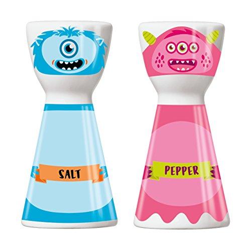 Ritzenhoff Mr. Salt & Mrs. Pepper Salz- und Pfefferstreuer, Porzellan, Mehrfarbig, 3.6 cm