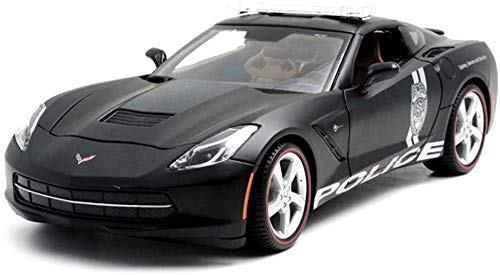 ZT Car Model Car 1:18 Corvette C7 Police Car Simulation Alloy Die-casting Toy Jewelry Sports Car Collection Jewelry 25x10x7.5CM