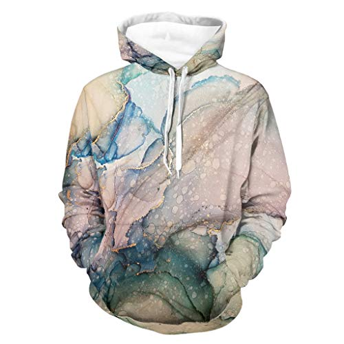 Go Go Grifendoor Magic Marbling - Sudadera con capucha para hombre, personalizable, con bolsillo canguro, suave, color blanco, XL