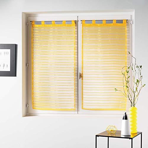 Douceur d' interno coppia destra passanti Vela Sabbia Graffia Riane, Poliestere, giallo, 120x 60cm