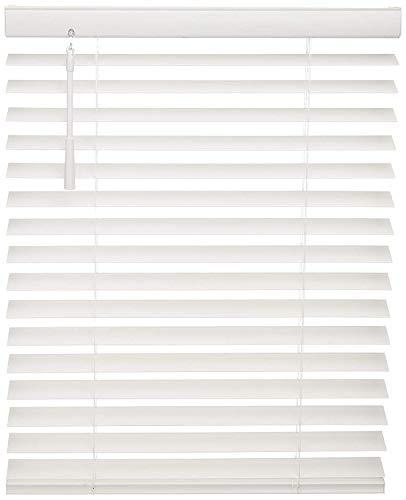 "West Coast Blinds Premium Wood Blackout Venetian Blind, 24"" x 30"", Pure White"