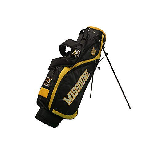 Best Bargain Team Golf NCAA Missouri Tigers Nassau Golf Stand Bag, Lightweight, 4-Way Top w/Integrat...