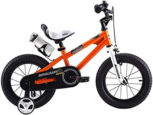 YPLDM Freestyle - Bicicleta infantil para niños y niñas, 6 colores, 12', 14', 16', 18', con estabilizadores, botella de agua y soporte, color amarillo, 16