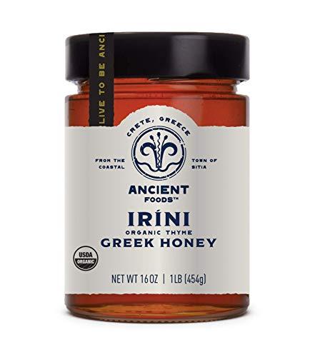 Ancient Foods – Irini   USDA Organic Greek Thyme Honey from Crete   Honest Raw Unfiltered – 16oz (1lb)