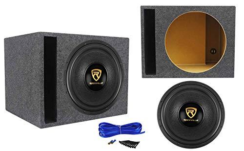 Rockville W15K9D4 15' 5000 Watt Car Audio Subwoofer+Vented Sub Box Enclosure