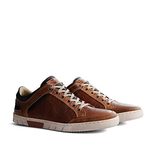 NoGRZ M.Graves Herren Leder Sneakers | Cognac EU 45