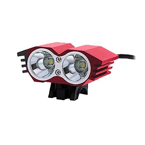 KHHGTYFYTFTY USB Recargable Linterna de la Bicicleta roja de Ciclo Ligero Faro Impermeable luz de la Noche de Seguridad Ciclismo