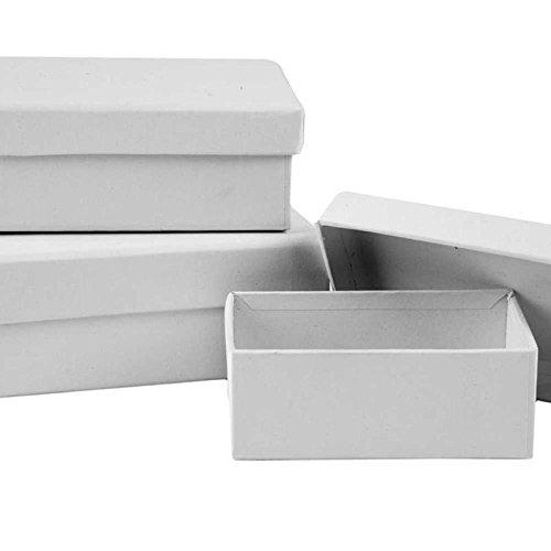 Creativ Company Pappschachteln, rechteckig, Packung mit 3 Größen á 6 Stück (Inhalt 18 Stück)