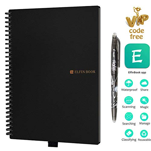 Elfinbook Cuaderno Inteligente Reutilizable, Everlast Smart Notebook,...