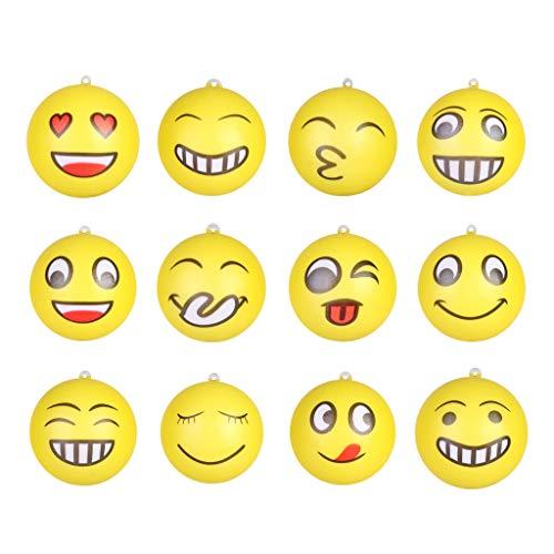 PARUYU 12 PC Squeeze Squishy 12 Stücke Glückliches Lächeln Gesicht Anti Stressabbau Langsam Steigenden Ball Hand Handgelenk Übung Spielzeug Ball