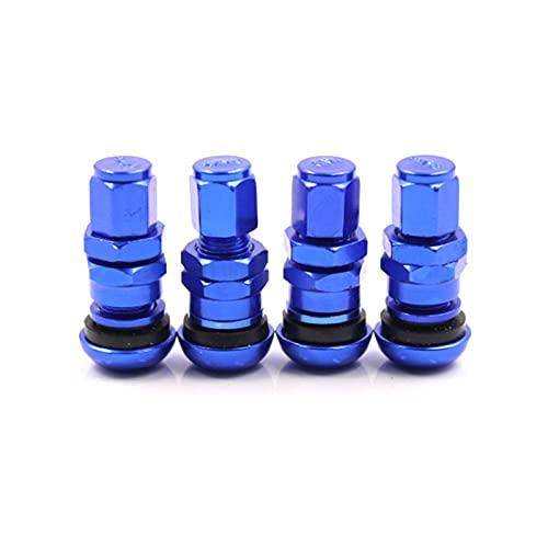 YUNHOME Tapones Rueda Coche Válvula Tapa Tapones Coche 4 Teile/Satz Für Rays Aluminio Ventil Metall RAD Reifen Ventil Stem Cap Air Abdeckung-Azul