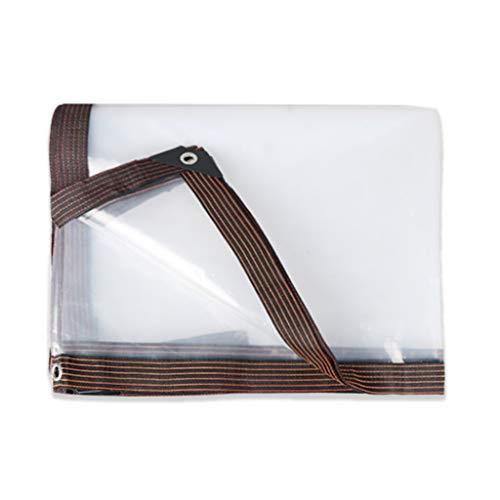 JLDN Plástico Lona Impermeable ProteccióN, Telone Trasparente con Ojales Resistencia Al Desgarro Bordes Reforzados Muebles/JardíN/Piscina/Coche,13x26ft(4x8m)