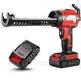 DNYKER Dripless Caulk Gun, 20v Max Cordless Caulking Gun with Battery, Adjustable Speed Glue Gun for Silicone, Ideal for Caulking, Filling, Sealing