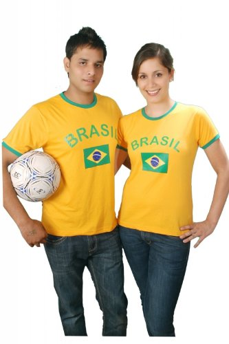 Brubaker Brasilien Fan T-Shirt Gelb Gr. M