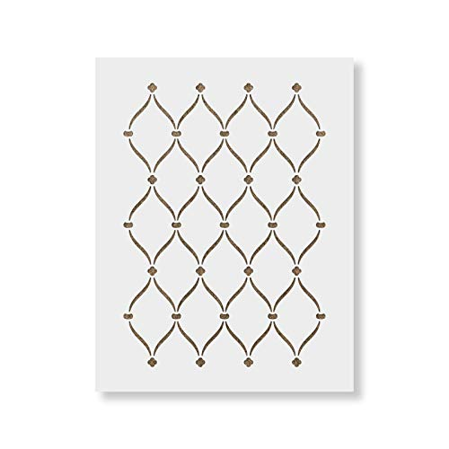 Ribbon Stencil - Repeating Stencil Pattern for Painting Walls - Create DIY Home Decor