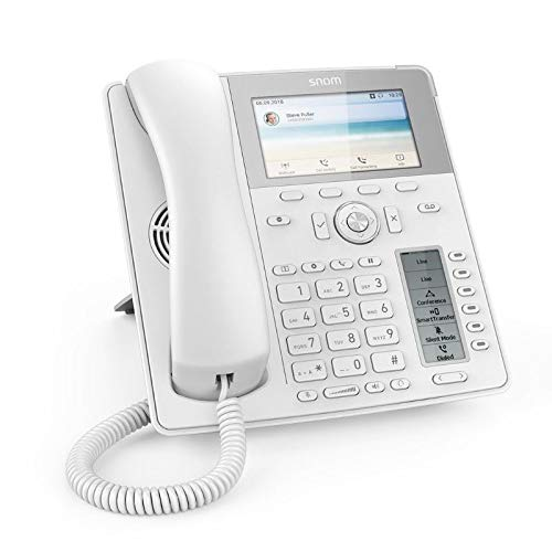 Snom Global Desk Telephone D785 (6 (24) Configurable Self-Labeling Multicolor LED Keys, High-Resolution Colour Display) White