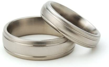 Titanium Rings for Him and Her, Matching Wedding Rings, Titanium Bands