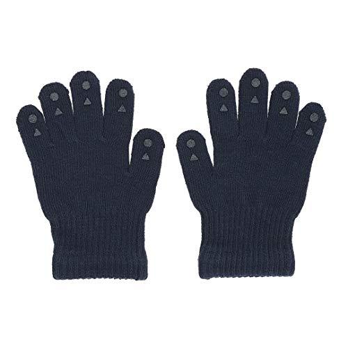 GoBabyGo Original rutschfeste Fingerhandschuhe für Babys und Kleinkinder | ABS Fäustlinge in Baumwollstretch | 2-3J | Navy Blue